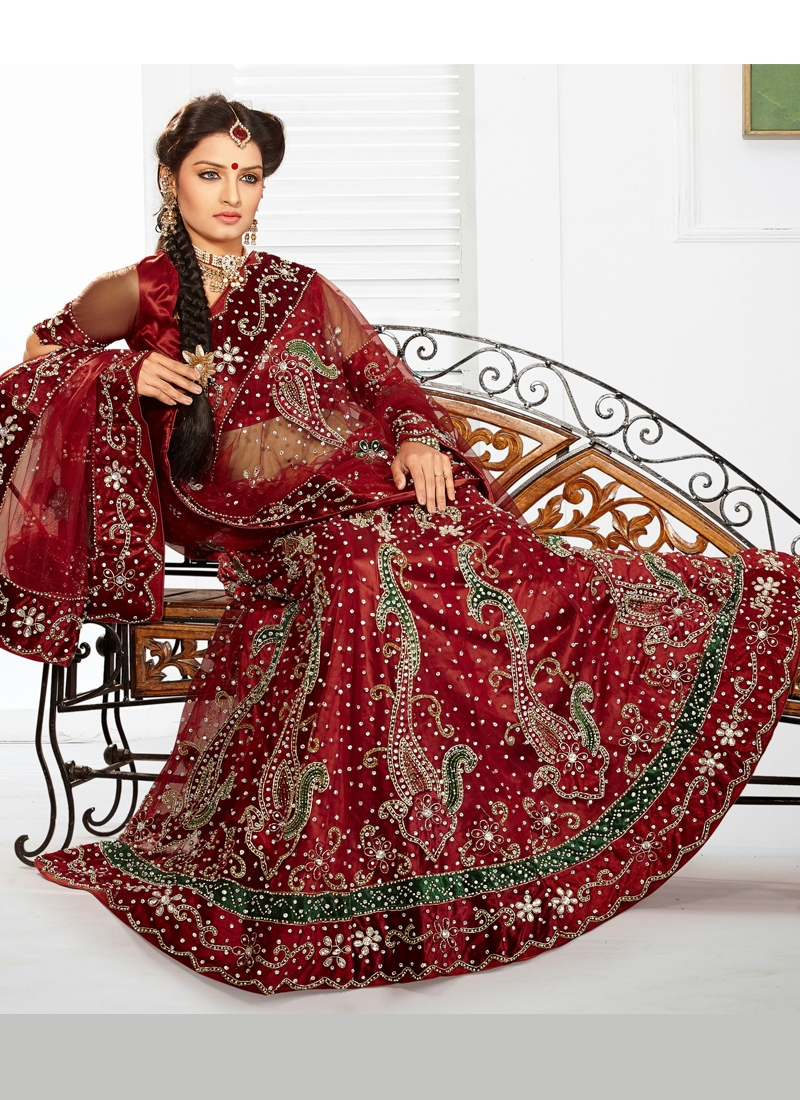 Astonishing Cutdana Work Bridal Lehenga Choli