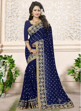 Astonishing Embroidered Work Traditional Saree