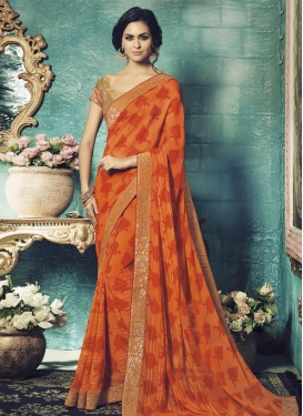 Astonishing Faux Georgette Classic Saree