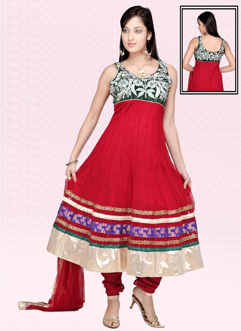 Astonishing Net Readymade Anarkali Salwar Suit