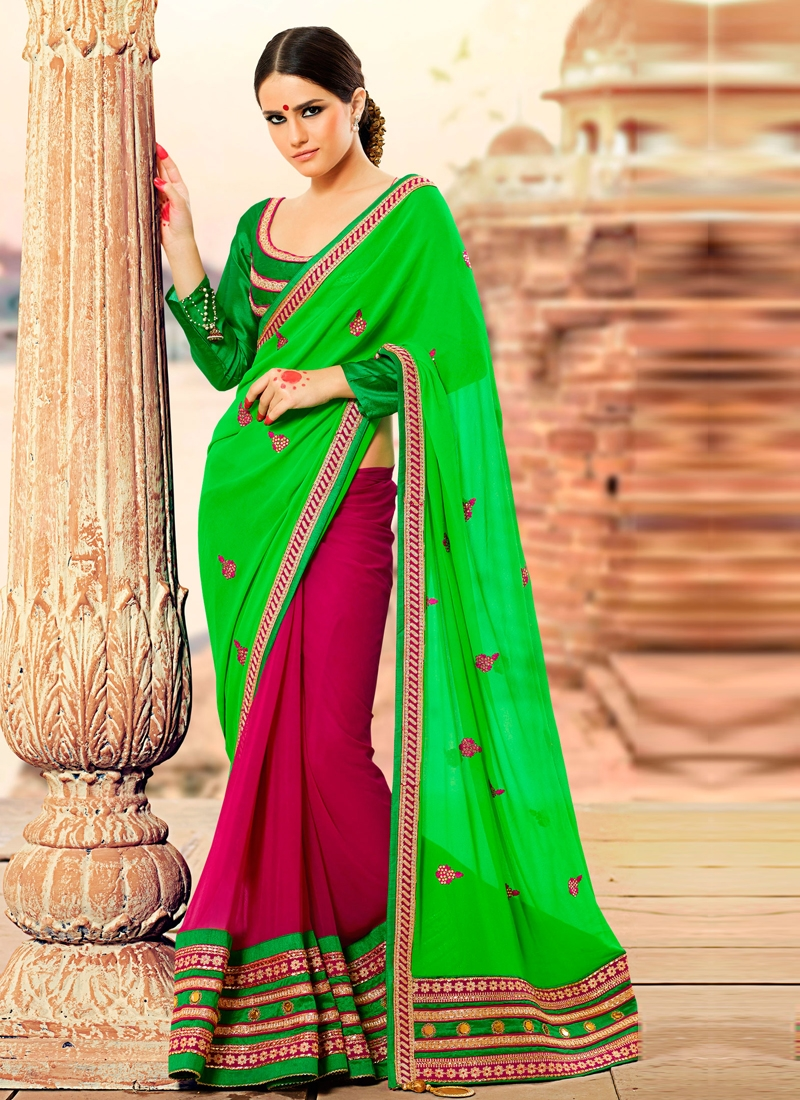 Astonishing Patch Enhanced Party Wear Saree