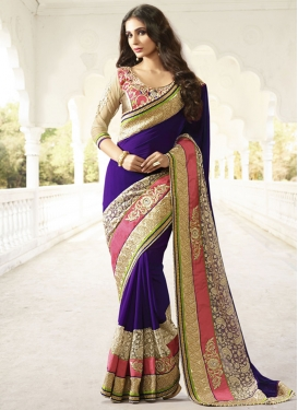 Astonishing Pure Georgette And Net Designer Saree
