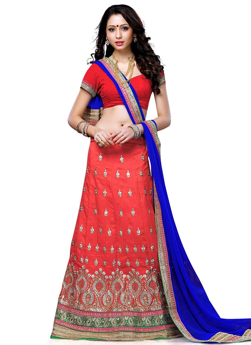 Astonishing Stone Work Art Silk Wedding Lehenga Choli