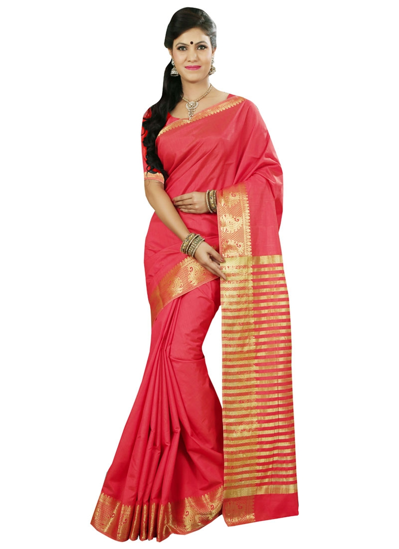 Astounding Art Silk Resham Work Casual Saree