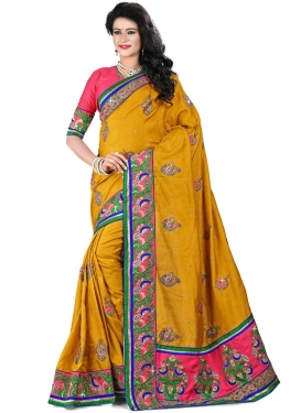 Astounding Booti Work Manipuri Silk Designer Saree