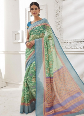 Astounding Brasso Georgette Contemporary Style Saree For Festival