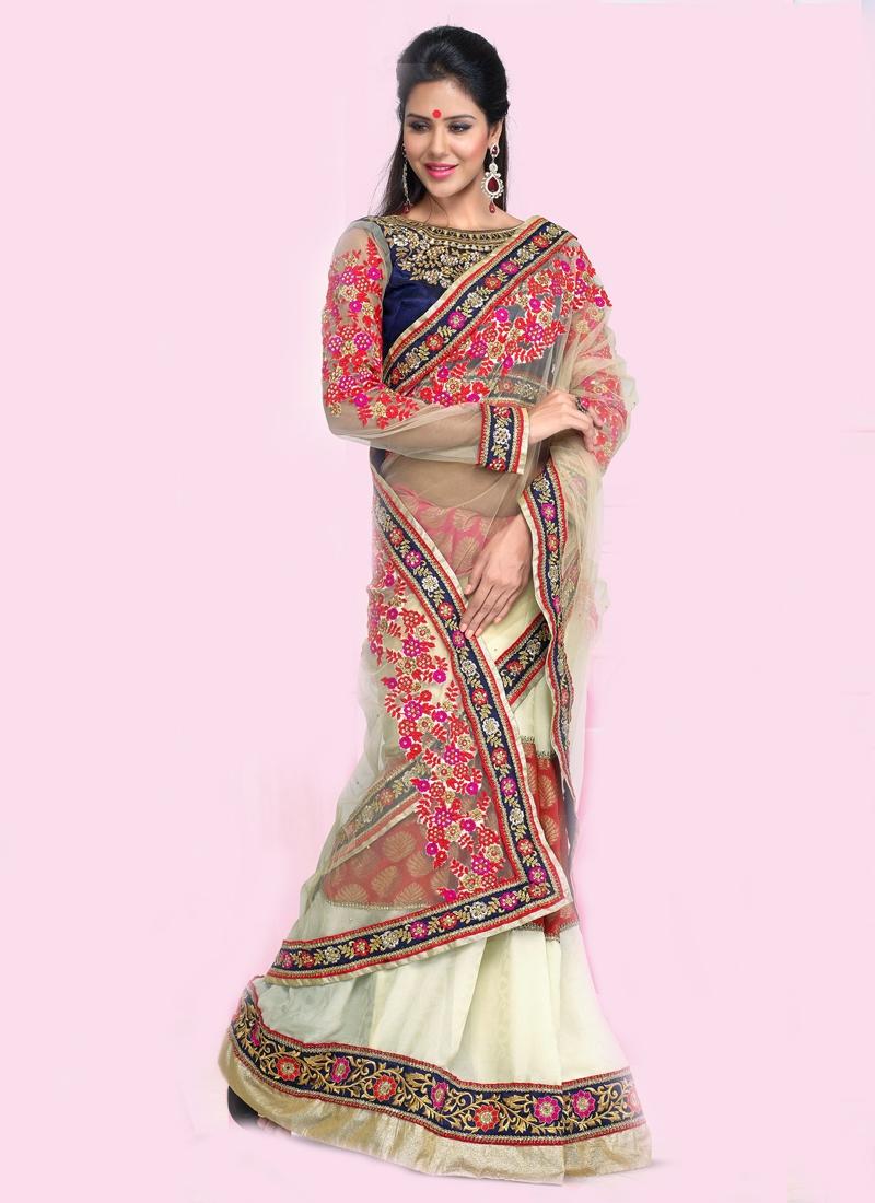 Astounding Flora Enhanced Designer Saree