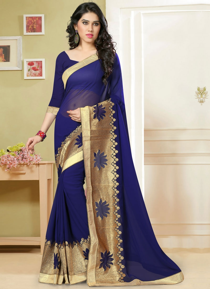 Astounding Lace And Zari Work Party Wear Saree