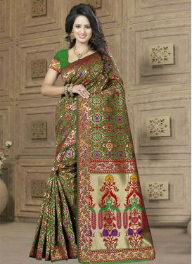 Astounding Resham Work  Contemporary Style Saree