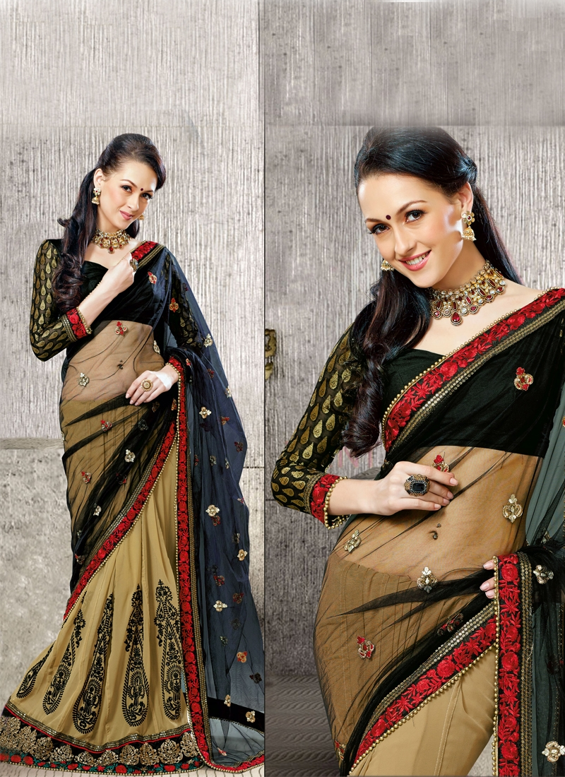 Attractive Booti Enhanced Lehenga Saree