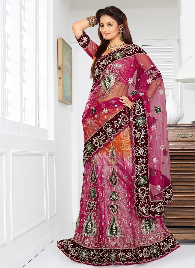 Attractive Patch Enhanced Bridal Lehenga Choli