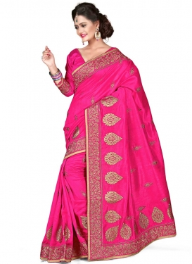 Attractive Stone And Multi Work Designer Saree