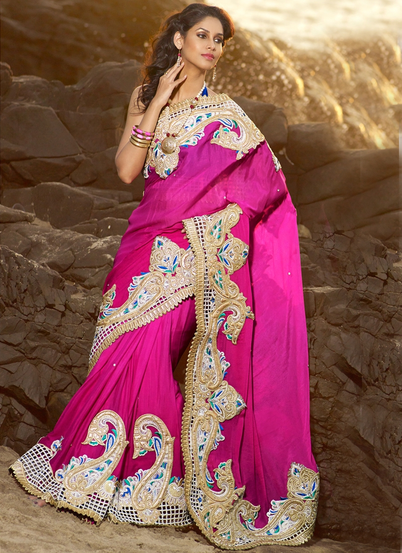 Attractive Stone Work Party Wear Saree