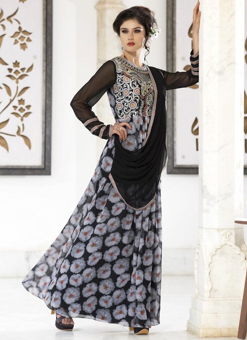 Auspicious Faux Georgette Designer Readymade Gown