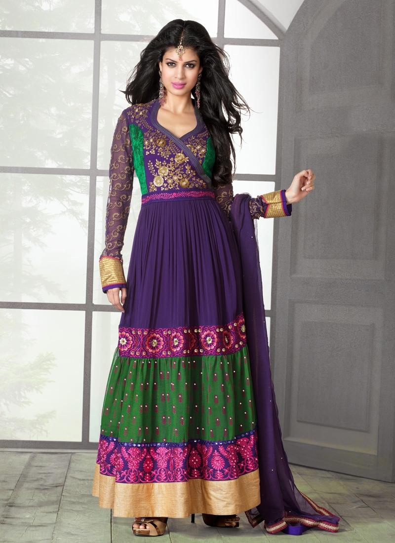 Auspicious Faux Georgette Designer Salwar Kameez