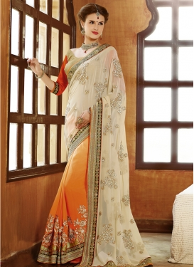 Auspicious Faux Georgette Wedding Saree