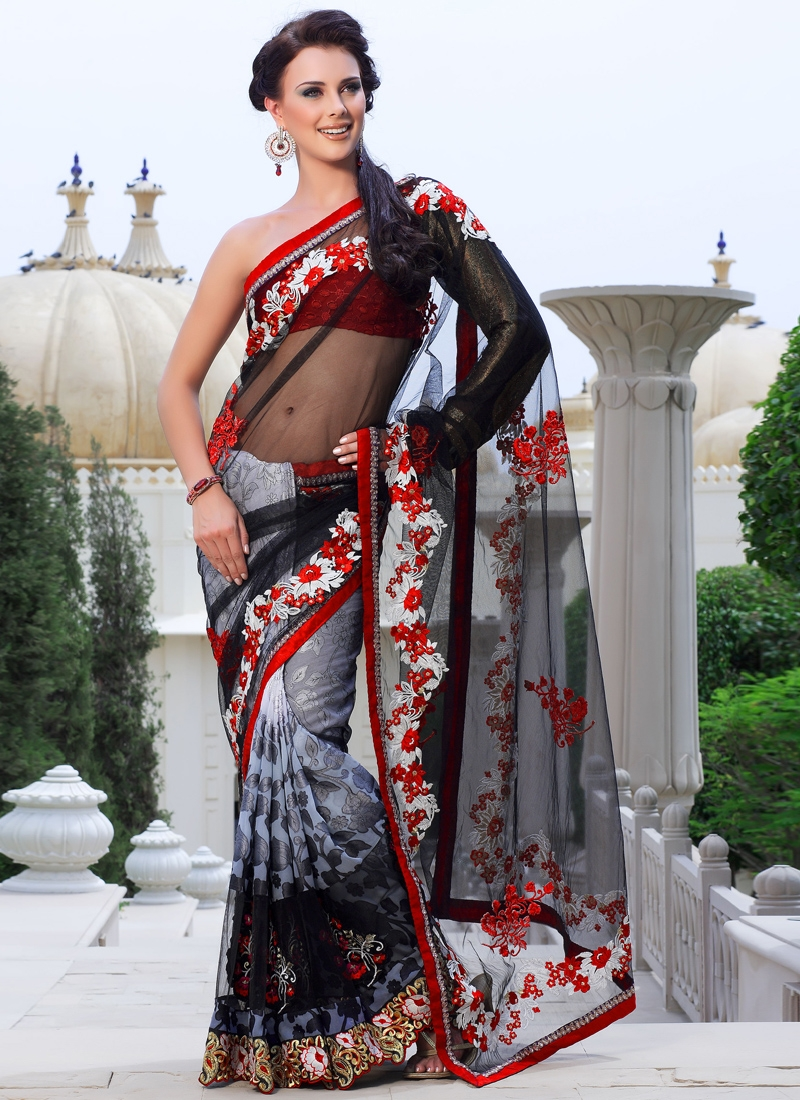 Auspicious Resham Enhanced Party Wear Saree