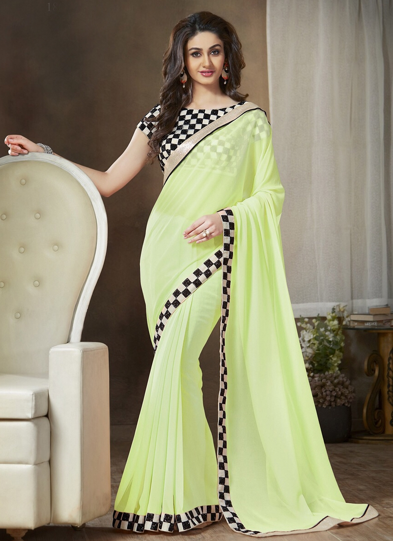 Auspicious Resham Work Casual Saree