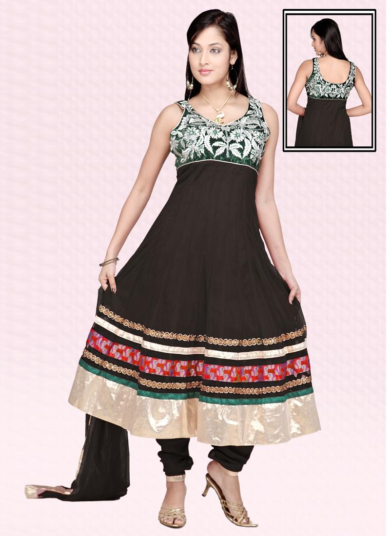 Auspicious Resham Work Readymade Anarkali Suit