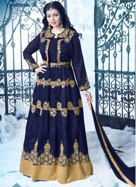 Auspicious Tafeta Silk Ayesha Takia Jacket Style Floor Length Suit