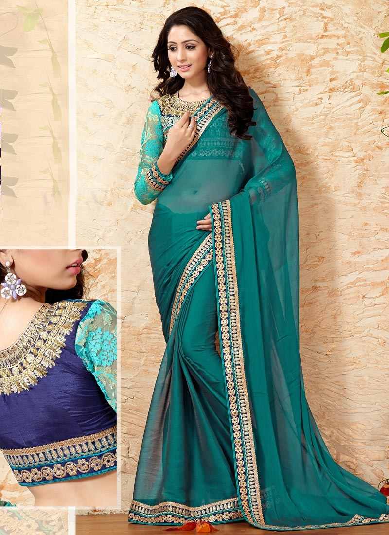 Awe Faux Chiffon Party Wear Saree