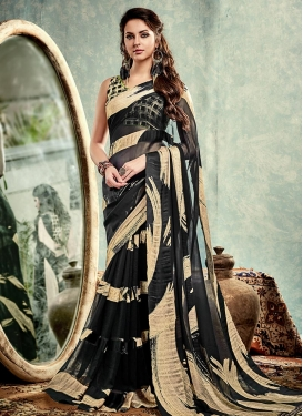 Awe Print Work  Trendy Classic Saree