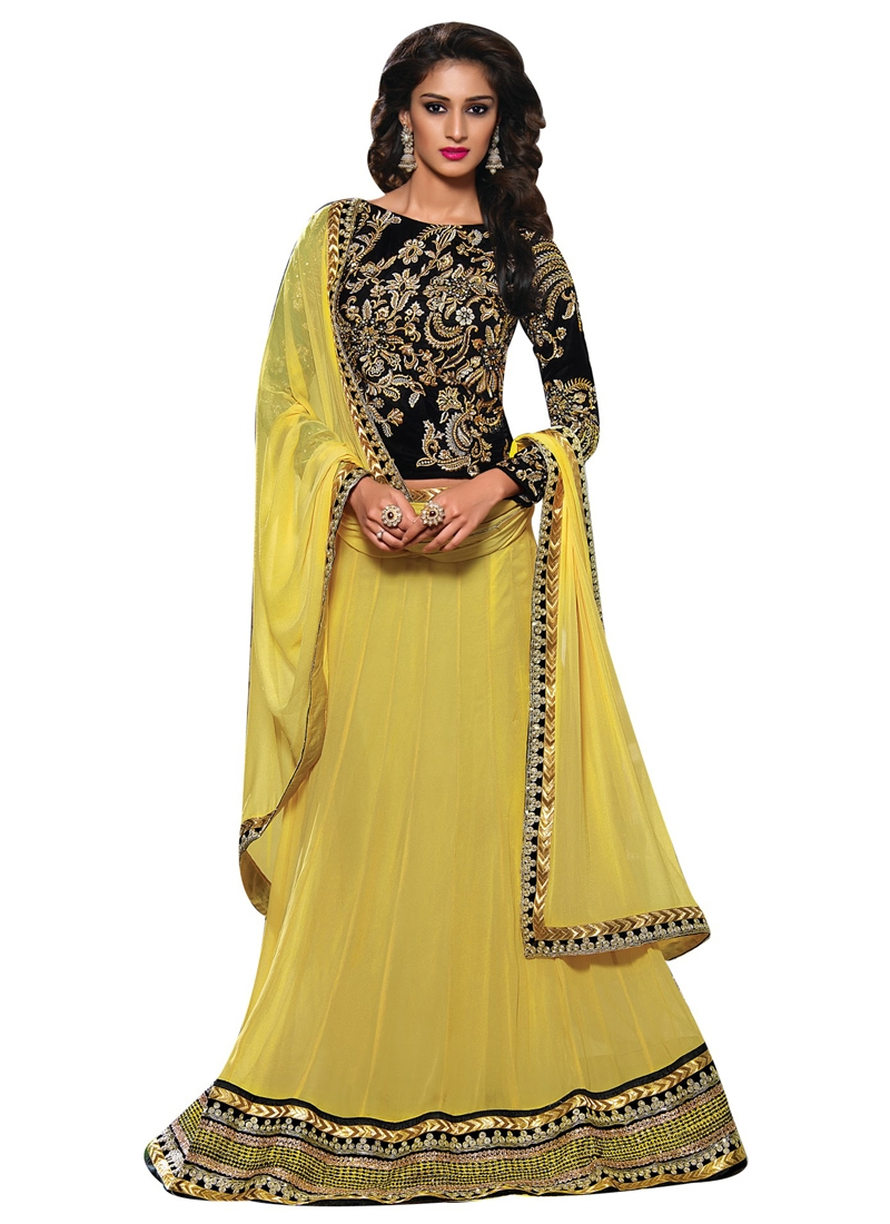 Awesome Faux Georgette Party Wear Lehenga Choli