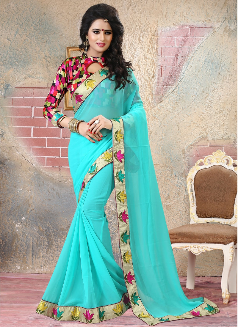 Awesome  Faux Georgette Party Wear Saree
