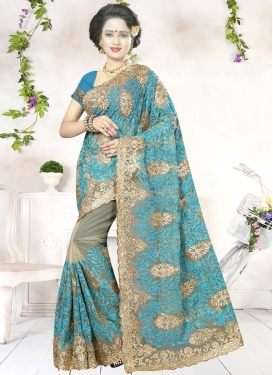 Awesome  Net Contemporary Saree