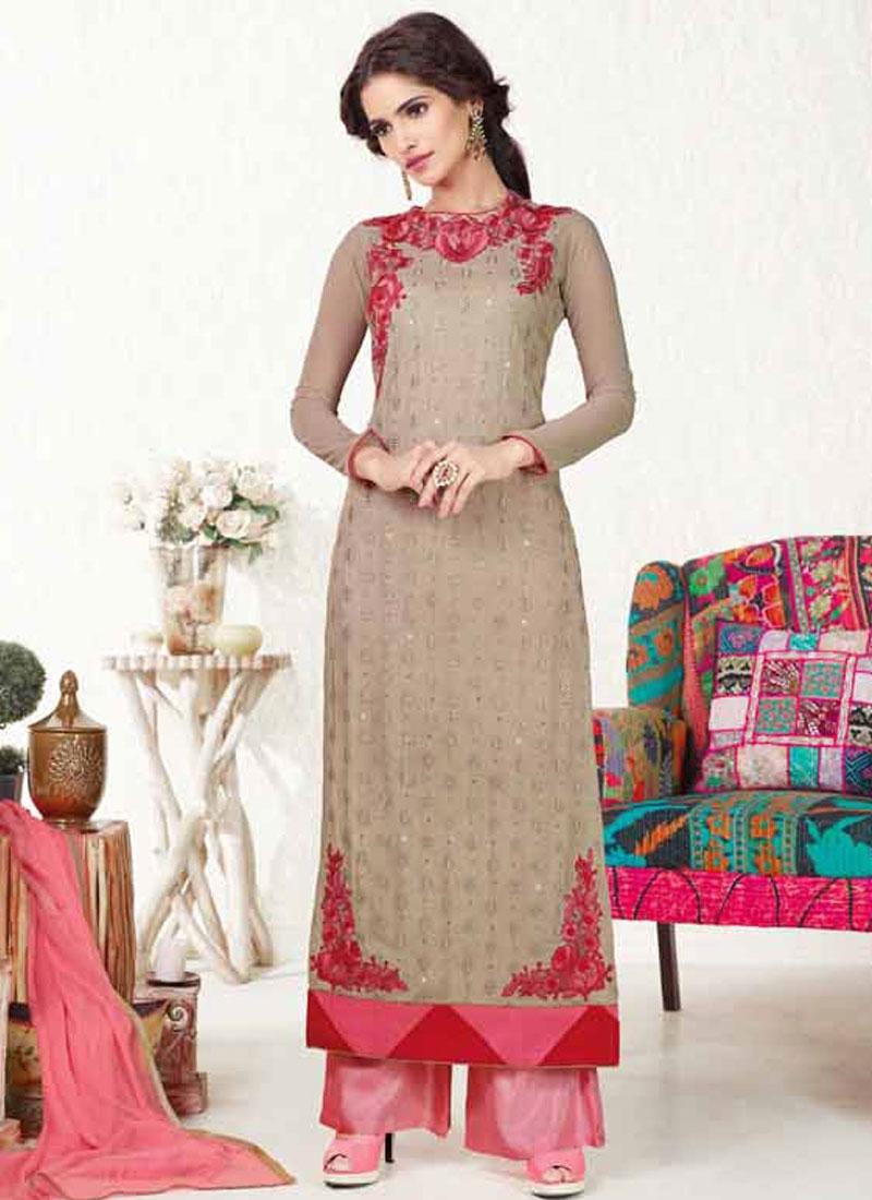 Awesome Net Palazzo Style Pakistani Salwar Suit