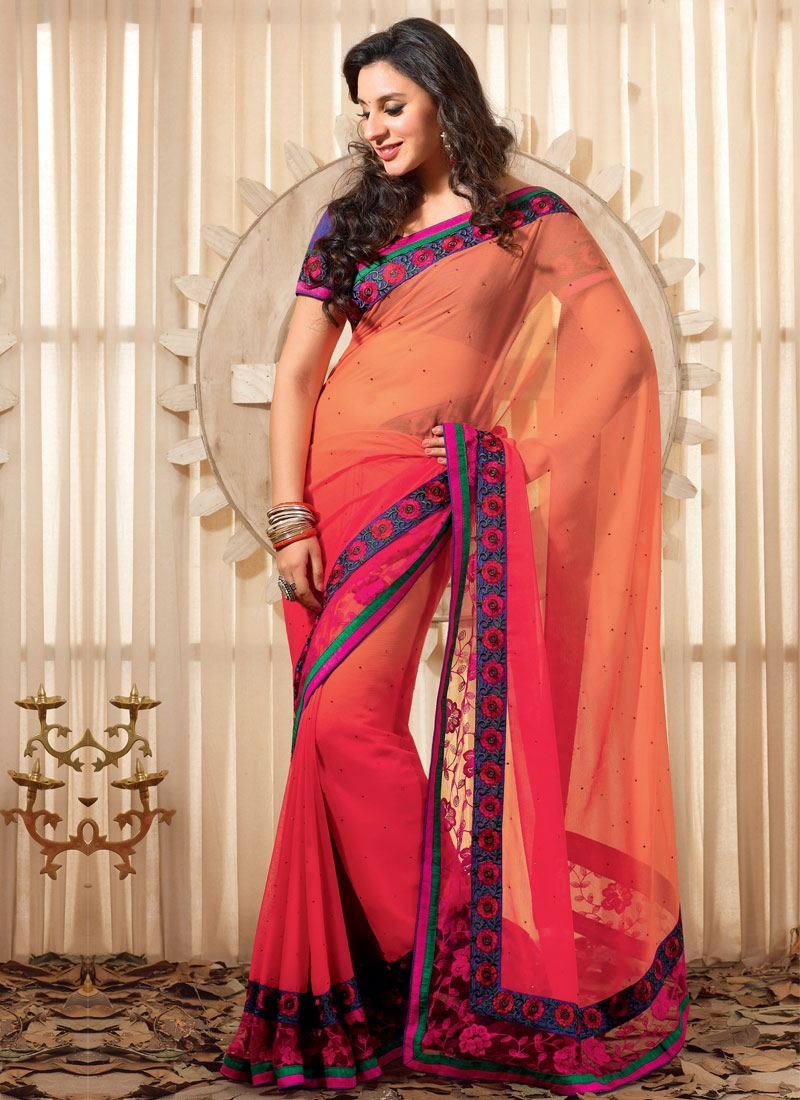 Awesome Patch Enhanced Party Wear Saree