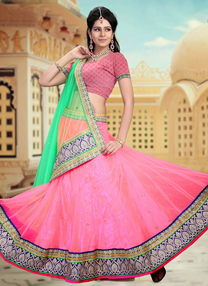 Awesome Pink Color Party Wear Lehenga Choli