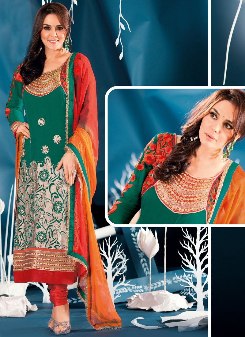 Awesome Resham Enhanced Party Wear Suit