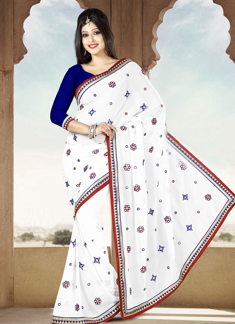 Awesome Resham Work Casual Saree