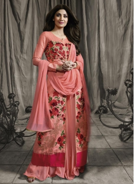 Awesome Shilpa Shetty Designer Kameez Style Lehenga Choli