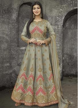 Ayesha Takia Art Silk Anarkali Salwar Kameez