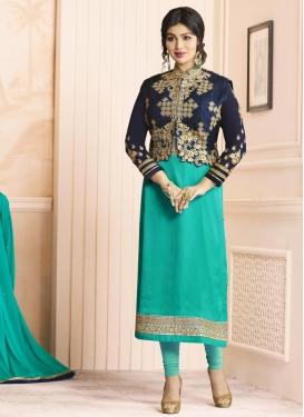 Ayesha Takia Banglori Silk Jacket Style Salwar Suit