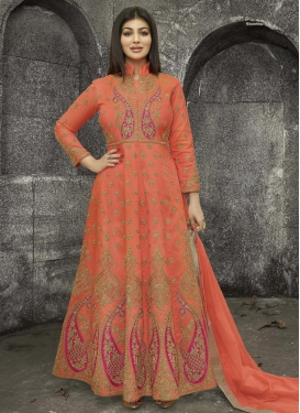 Ayesha Takia Booti Work Long Length Designer Anarkali Suit