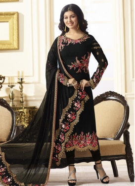 Ayesha Takia Embroidered Work Designer Straight Salwar Kameez
