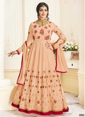 Ayesha Takia Embroidered Work Faux Georgette Trendy Anarkali Salwar Kameez