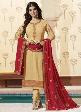 Ayesha Takia Embroidered Work Faux Georgette Trendy Pakistani Salwar Kameez