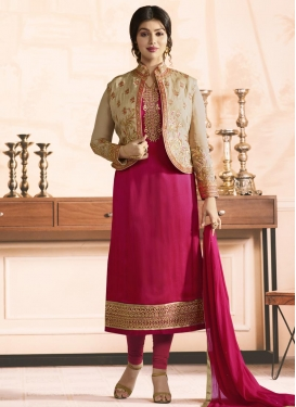 Ayesha Takia Embroidered Work Jacket Style Salwar Suit