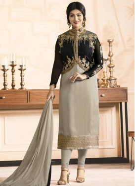 Ayesha Takia Embroidered Work Jacket Style Suit