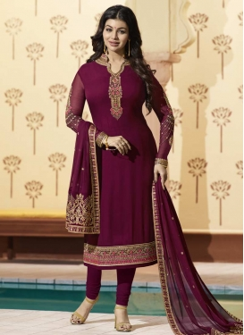 Ayesha Takia Embroidered Work Pakistani Straight Salwar Kameez