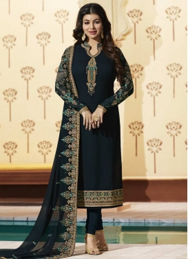 Ayesha Takia Embroidered Work Pakistani Straight Salwar Suit