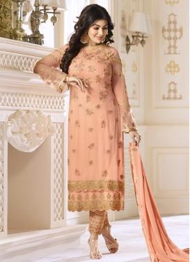Ayesha Takia Embroidered Work Pant Style Straight Salwar Kameez