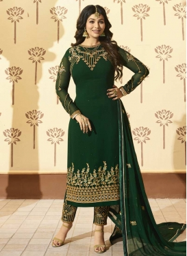 Ayesha Takia Embroidered Work Pant Style Straight Salwar Suit