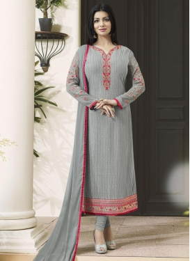 Ayesha Takia Embroidered Work Straight Pakistani Salwar Suit