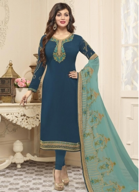 Ayesha Takia Embroidered Work Trendy Salwar Suit