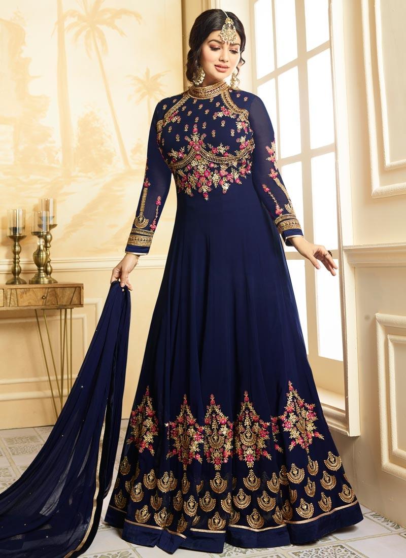 40e18240f7 Ayesha Takia Faux Georgette Desinger Anarkali Salwar Suit For Ceremonial